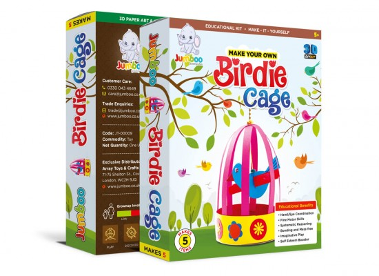 Diy Birdie Cage Paper Craft Toy