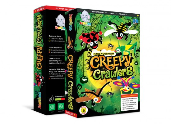 Creepy Crawlers Paper Craft Toys