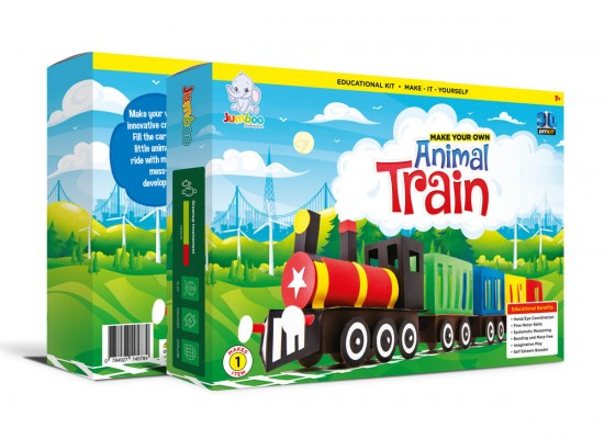 Paper Craft Toy Train For Kids Diy Paper Craft Toys Train Kit