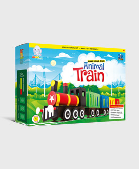 Paper Craft Toy Animal Train For Kids