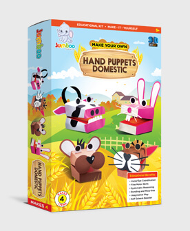 Diy Domestic Animal Hand Puppets Paper Toys Craft For Kids