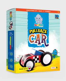 Paper Toys Pullback Car For Kids