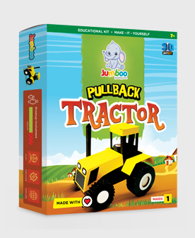 DIY Paper Pullback Tractor Toys for Kids