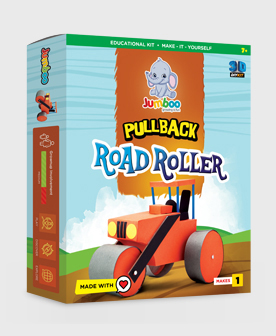 Pullback Road Roller Paper Craft Toys